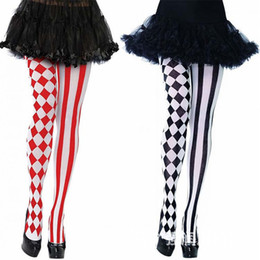 cosplay pantyhose 2020 - 2019 New Fashion lady Cosplay striped tights Elastic Pantyhose Stockings Autumn Winter Party Chrismas Clown tights Multi