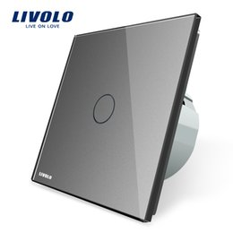 $enCountryForm.capitalKeyWord Australia - Livolo The Base of Touch Screen Wall Light Switch EU Standard AC 220~20~250V 1 Gang Switch 8 Functions