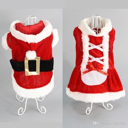 santa coat costume UK - New Puppy Dog Clothes Santa Costume Christmas Pet Clothes Hoodie Coat Clothing for Dog Chihuahua Yorkshire Clothes