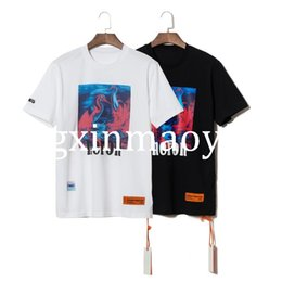 Men S Tees Australia - 2019 S S Heron Preston Pink Heron Printed Women Men T shirts tees Hiphop Streetwear Men Cotton T shirt Summer Style