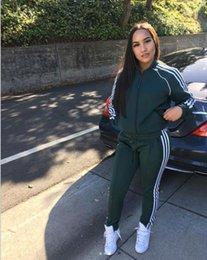 Toptan satış Kadın Spor Takım Elbise Hoodies Tops + Pantolon 2 adet / takım Sonbahar Kış Uzun Kollu Giyim Pantolon kıyafetler Bayanlar PEMBE Eşofman