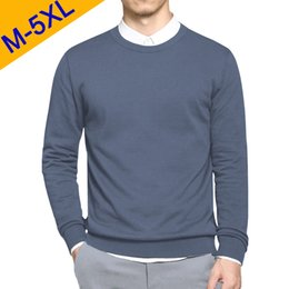 $enCountryForm.capitalKeyWord Australia - 5XL Men Sweaters Pullover 2019 Spring New Cotton O-Neck Solid Sweater Jumpers Autumn Male Knitwear Man Big Plus Size Simple Type