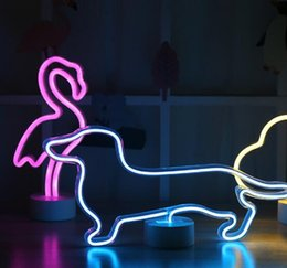 $enCountryForm.capitalKeyWord NZ - neons decoration USB Charging Neon Moon Lamp Holiday Light Flamingo Cactus Moon Cloud LED Night Light for Home Festival Wedding Party Decor