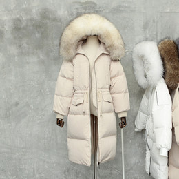 Parka For Woman Black Australia - Down Jacket For Women Winter Thicken Warm Natural Raccoon Fur Collar Hooded Coats Female Fur Jacket Casual Loose Parka Outerwear