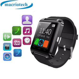 samsung s4 smart watch UK - Newest Bluetooth Smart Watch U8 wrist watch sport for iPhone 4 4S 5 5S Samsung S4 Note 2 Note 3 HTC Android Phone