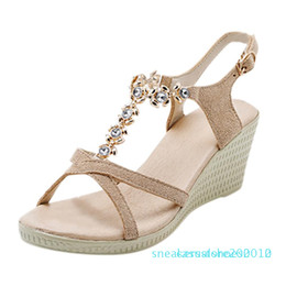 knotted sandal Australia - Bohemian Women Summer Footwear Summer Butterfly-knot Flats Sandal Woman Shoes Non-slip Crystal Beach Sandal Woman Shoes s10