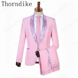 Pas cher et Fine rose clair garçons d honneur châle revers marié smokings costumes  pour hommes Dîner de mariage Meilleur homme Blazer (veste + pantalon + ... 367b625b0cd