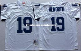 39ec9039 Mens 1995 #55 Junior Seau Vintage Football Jersey Stitched White Navy Royal  blue #14 Dan Fouts #19 Lance Alworth #80 Kellen Winslow Jersey