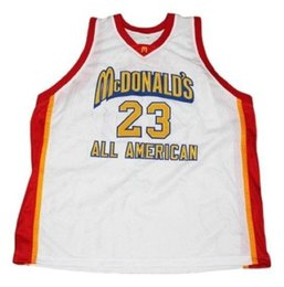 cdf636800ba7 wholesale Michael  23 McDonald s All American Basketball Jersey New White Stitched  Custom any number name MEN WOMEN YOUTH BASKETBALL JE