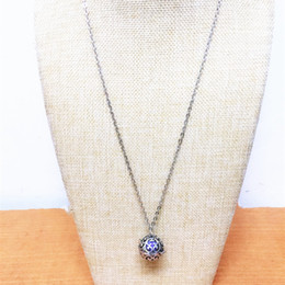 Pregnancy Chime Pendant Australia - pendant Hollow Out Flower Shape Diffuser Pendant Baby Chime Pregnancy Mexican Ball Bola Necklace
