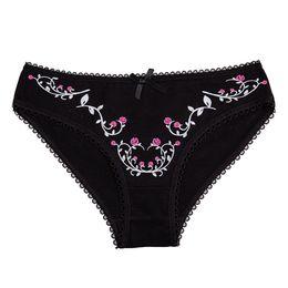 $enCountryForm.capitalKeyWord UK - Sexy Cotton Panties Flower Print Women Underwear Ladies Girls Lace Briefs Seamless Plus Size Shorts Breathable Knickers 1 Piece C19040401