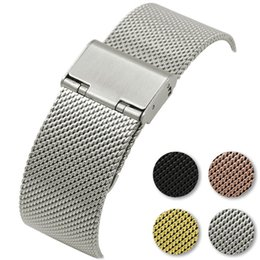 $enCountryForm.capitalKeyWord NZ - Replacement Strap for Huawei watch2 pro Pebble time round pebble2 Moto360 2 42mm Milanese Band Stainless Steel Buckle Smart Watch Wristband