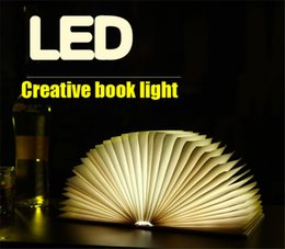 Diy Folding Table Australia - LED creative size book USB folding bed head funny atmosphere mini surprise gift night light table lamp to send family friends lover