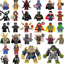 Vente en gros Nouveau héros super Mini Figures Marvel Avengers Blocks Doctor Strange Spiderman bloque la construction Ironman Black Panther enfants cadeaux