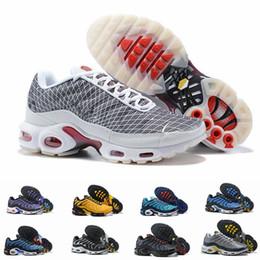 Discount shark mesh - 2019 TN Plus Ultra Tiger Hyper Blue Shark Sunset Yellow Greedy Mens Running Shoes For Men TNs Designer Sneakers Trainers