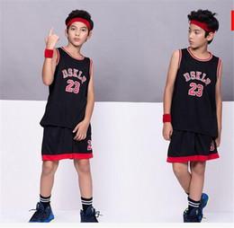 $enCountryForm.capitalKeyWord NZ - Kids Sport Basketball Jersey DSKLR 23 ,polyester children's wear Basketball suit,child sport Vest shorts Black Red White