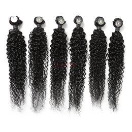 Piece curtains online shopping - Hot Sale Fashion New Temperament Real Human Hair inch Long Curly Six piece Hair Curtain Hair Extension