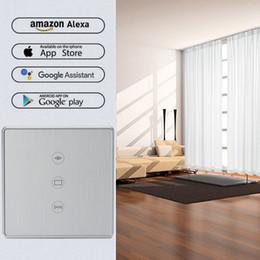 $enCountryForm.capitalKeyWord NZ - Wi-Fi curtain switch EU Glass Panel smart mobile control via Tuya app Work with Amazon Alexa Google home for smart home