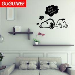 $enCountryForm.capitalKeyWord Australia - Decorate Home dogs cartoon wars art wall sticker decoration Decals mural painting Removable Decor Wallpaper G-2228