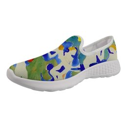 Comfortable Soft Women Shoes UK - New Fashion 2019 Women Non-slip Shoes On Bottom Top Wading Shoes Female Soft Light Casual Comfortable Painting Print