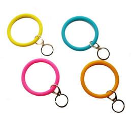 $enCountryForm.capitalKeyWord Australia - Silicone Teething Jewelry Keychain O Key Ring Circle Bracelet Wristlet Bracelet Key Ring, FoodKeychainBracelet Key RingFashion Keyring
