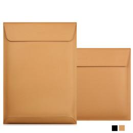 Air Laptops Australia - Matte Magnetic Buckle PU Laptop Sleeve Bag For Xiaomi Macbook Pro 13 Case Air 11 12 Retina 2018 New 15 Touch Bar Women Men Cover