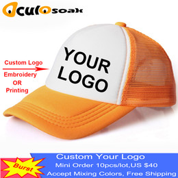 cheap blue caps NZ - Factory Price! Free Custom Design Cheap 100% Polyester Men Women Baseball Cap Blank Mesh Adjustable Hat Adult Children Kids
