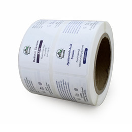 $enCountryForm.capitalKeyWord Australia - White pearl film adhesive label sticker custom vinyl front and back set labels waterproof printing package sticker