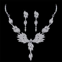 $enCountryForm.capitalKeyWord Australia - Bling Crystal Bridal Jewelry Set Shinning Rhinestone Wedding Party necklace Wedding jewellery sets for bride Bridesmaids women Accessories