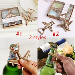 Wholesale Helicopter Airplane Beer Bottle Opener Antique Alloy Plane Shape Bottle Opener Wedding Gift Party Favors Kitchen Bar Tool