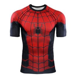 $enCountryForm.capitalKeyWord Australia - New Designer Men Tshirts Spiderman Cosplay Tights Hero Expedition 3D Printed T-shirt Avengers League Marvel Superhero Fitness GymTee For Men