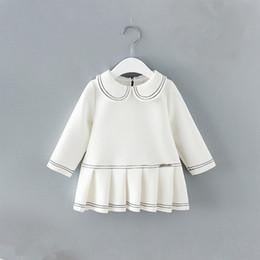 $enCountryForm.capitalKeyWord Australia - girls dress Toddler Infant Baby Girls Princess Christening Dresses kids peter pan collar pleated dress baby clothes 0-2Y