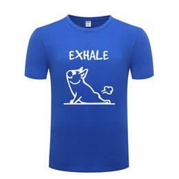 a14856bfc Cute French Bulldog Yoga Print Men T Shirt Anime Cartoon T Shirts Men  Cotton Short Sleeve Tshirt Streetwear Tee Shirt Homme New