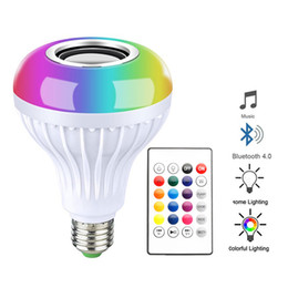 Sound Controller Australia - Wireless Bluetooth Speaker Bulb Lamp Light Music Player Dimmable Music Playing Audio with Sound Function Remote Controller