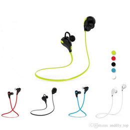 fashion color headset 2019 - Iphone In-ear Bluetooth Headphone Qy7 Bluetooth 4.1 Stereo Earphone Fashion Sport Running Headsets Studio Music Earphone
