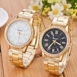 Cheap rhinestone watCh online shopping - Cheap s Year New Women Watches Luxury Gold Quartz Watch Stainless Steel Rhinestone Women s Watches Relogio Feminino Clock Reloj Mujer