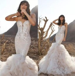 $enCountryForm.capitalKeyWord Australia - Pnina Tornai Latest Wedding Dresses Spaghetti Backless Lace Bridal Gowns Beads Sweep Train Plus Size Beach Custom Made Mermaid Wedding Dress