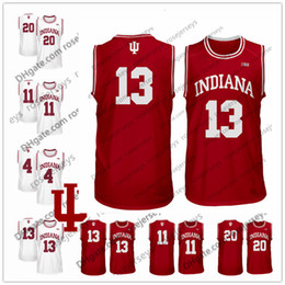 red basketball jerseys Australia - 2020 NCAA Indiana Hoosiers #3 Justin Smith 10 Rob Phinisee 11 Devonte Green 20 De'Ron Davis 23 Damezi Anderson Red White Basketball Jersey