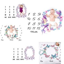 Wholesale 5 types newborn baby photography background props baby photo fabric backdrops infant blankets wrap letter flower numbers print cloth BD0030