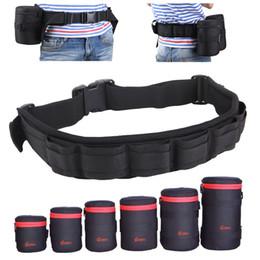 Dslr Camera Belt Australia - belt camera holder Photo Adjustable Black Strap DSLR Padded Camera Waist Belt Holder w  Nylon Functional Soft Padded Lens Bag Pouch Case
