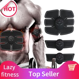 slim vibration machine Canada - EMS Abdominal Muscle Trainer Massage Stimulator Exercise Slim Body Vibration Machine Loss Weight Smart Fitness Slimming Loss Body Equipment