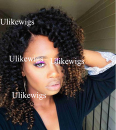 $enCountryForm.capitalKeyWord Australia - 150% Density Wig bleached knots Hair Curl Wave Full Lace Human Hair Wigs Ombre Highlight 1bT4 1bT33 1bT27 Lace Front Wig For Black Women