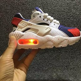 kids flash shoes Canada - Flash Kids Huarache Runing Shoes boys runner Children Lighted huaraches outdoor toddler athletic boys girls Infant sneakers