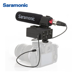 Dslr Camera Microphone Australia - Saramonic MixMic Shot GUN VIDEO Microphone with Integrated 2-Channel XLR Audio Adapter for DSLR CANON NIKON Cameras & Camcorders