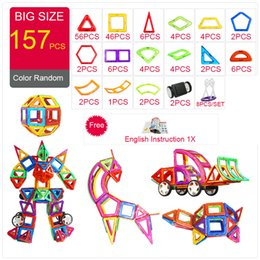 $enCountryForm.capitalKeyWord Australia - Designer Construction & 44-157pcs Big Size Magnetic Diy Magnets Building Blocks Toys Gifts Q190530