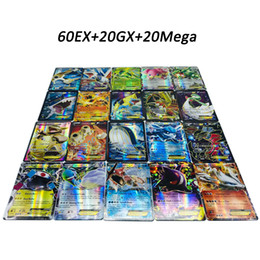 shine papers 2019 - DHL free Playing Trading Cards Games Pikachu EX GX Mega Shine English Cards Anime Poket Monsters Cards No repeat 100pcs