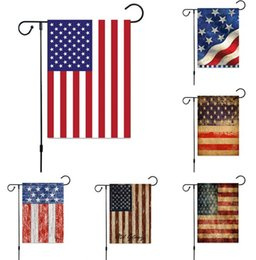 $enCountryForm.capitalKeyWord NZ - Mix Color Independence Day Garden Flag Linen USA Printing Flags Hanging Flags Indoor Outdoor Home Decoration