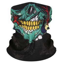 Wholesale helmet green for sale – halloween Balaclava Skull Bandana Helmet Neck Face Masks For Bike Motorcycle Ski Outdoor Sports Halloween Skeleton Scarf New Style