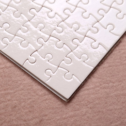 Wholesale Fedex A5 size DIY Sublimation Puzzles Blank Puzzle Jigsaw Heat Printing Transfer Local Return Gift 1 pc