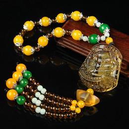 Talisman necklace online shopping - Crystal Car Pendant Bead Necklace Car Accessories Brave Decoration Supplies Beads Pendant Protective Talisman Manufacturer
